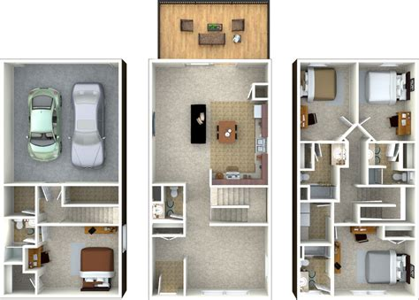 4 bedroom townhouse floor plans townhouse floor plans clearview farms apartments