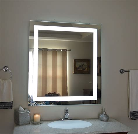 Modern Bathroom Mirrors With Lights Contemporary Lighted Bathroom Mirror New Home Design Lighted Bathroom Mirror Design
