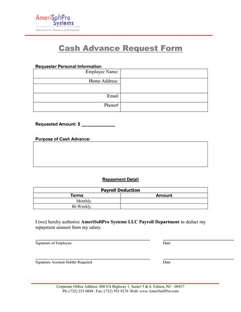 Advance Letter To Employee Template Salary Advance Request 1000 Fast No Fax