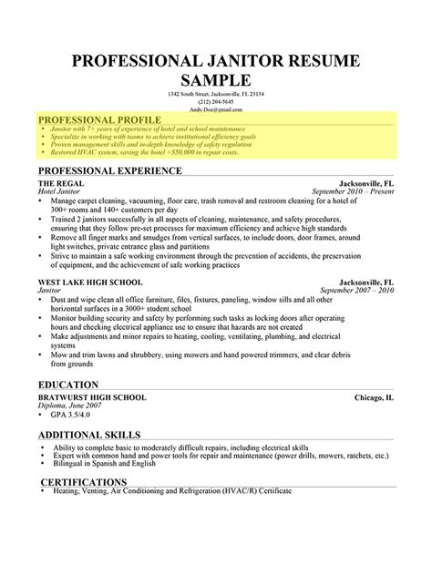 profile examples for resumes