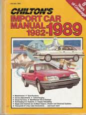 what is the best auto repair manual 1989 pontiac firefly head up display 1982 1989 chilton s import auto repair manual
