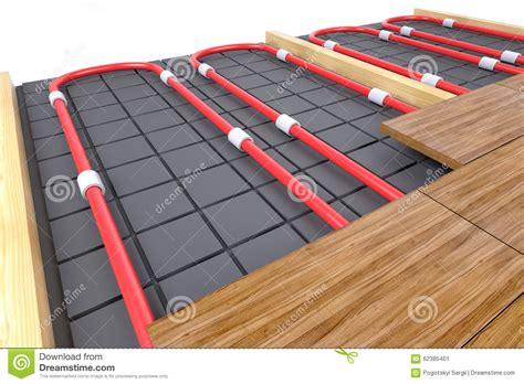 tubi per riscaldamento a pavimento tubi per il riscaldamento di pavimento illustrazione di