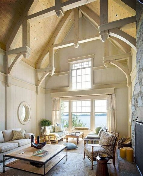 vaulted ceiling ideas home decor ideas vaulted ceilings beams in open space