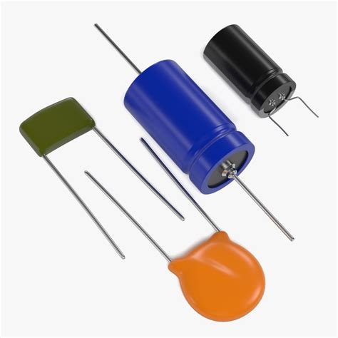 capacitor 3d model 3d model capacitors
