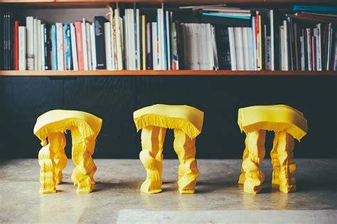 designboom milan design week 2015 satsuki ohata s cheesy fondue stools at milan design week 2015