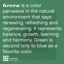 meaning of the color green sensational color