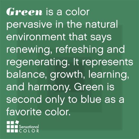 Meaning Of The Color Green | meaning of the color green sensational color