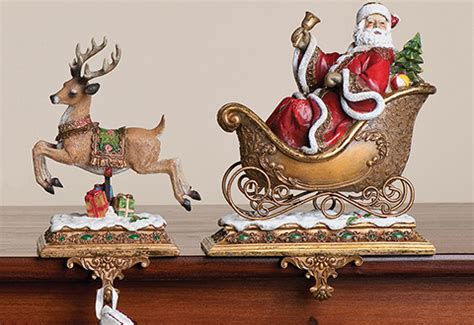 santa and reindeer stocking holders sharper image
