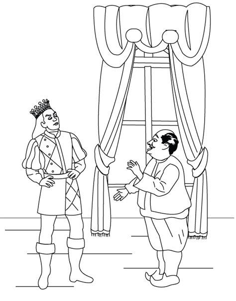 coloring pages the miller talking to the king