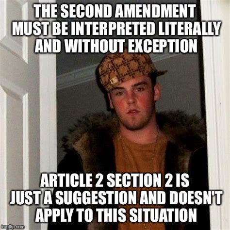 2nd Amendment Meme - you can t have it both ways imgflip