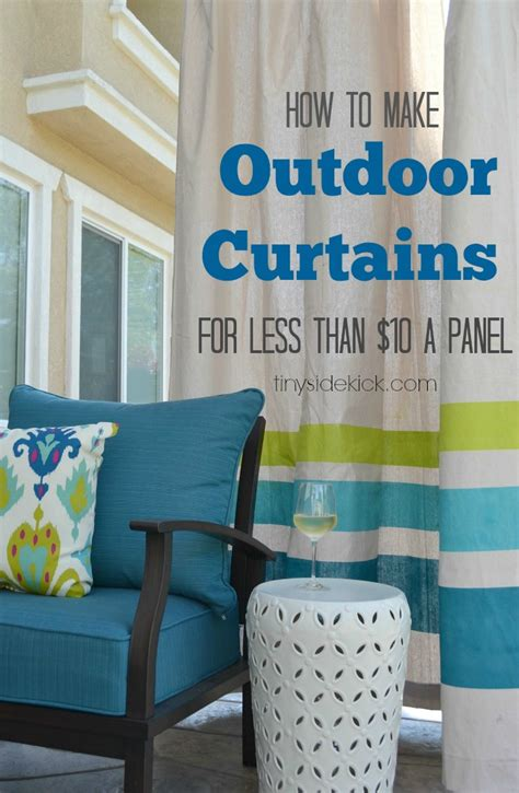 Diy Outdoor Curtains Diy Outdoor Curtains Tutorial How To Make Outdoor Curtains From Drop Cloths