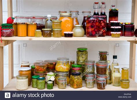Shelf Food by Food Larder With Shelves Of Products