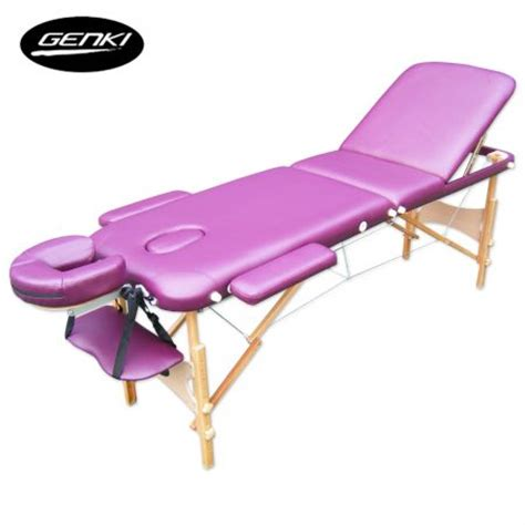 3 section portable massage table portable 3 section massage table chair bed foldable with