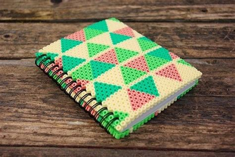 hama book notebook with perler bead navajo inspiration cover