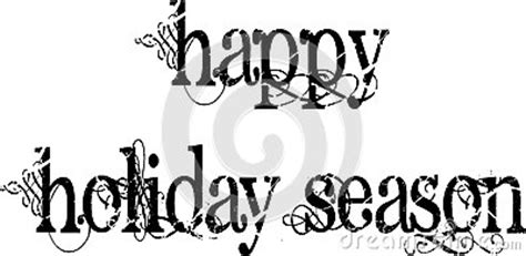 happy holiday season words stock photography image