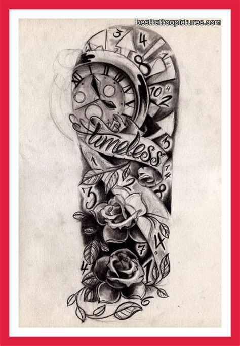meaningful half sleeve tattoos for men designs half sleeve with quot time waits for no one