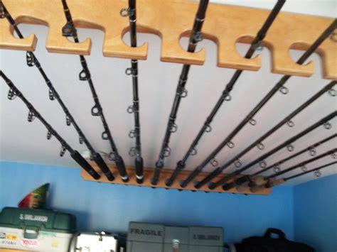 Ceiling Fishing Rod Holders by Fishing Rod Rack Ceiling Or Horizontal Mount Bloodydecks