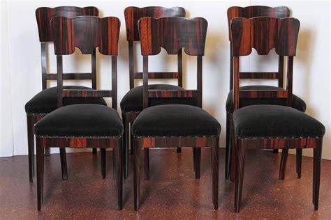 set of six deco rosewood veneered side chairs