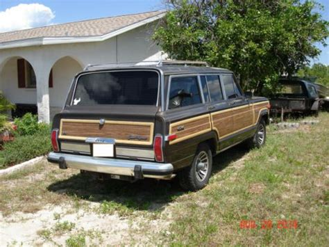 Jeep Woody Wagon For Sale Find Used 1987 Jeep Grand Wagoneer 4 Door Woody Wagon W
