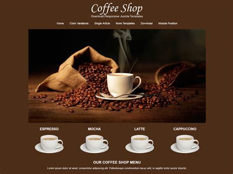 Jsr Coffee Shop Free Responsive Coffee Shop Joomla Template Freemium Download Coffee Shop Website Template Free