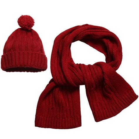 mayoral boys cable knitted hat scarf set