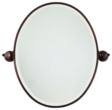 oval bathroom mirrors brushed nickel traditional minka traditional minka 24 1 2 quot high oval brushed bronze
