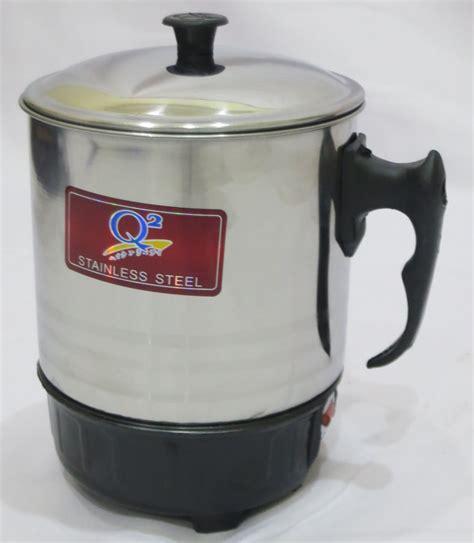 Teko Mug Listrik 0 75ltr 11cm harga electric heating cup mug listrik merk q2 di kab bekasi jawa barat id priceaz