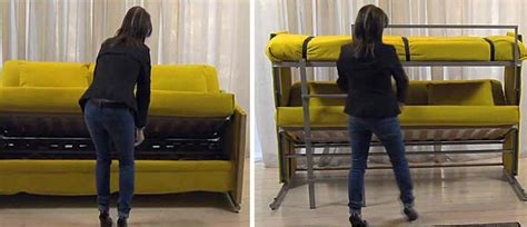 sofa becomes bunk bed bunk bed couch folding sofa turns into bunk bed in seconds