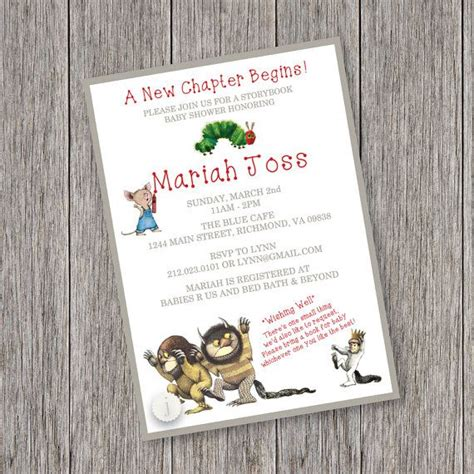 Storybook Baby Shower Invitations by Storybook Theme Printable Baby Shower Invitation