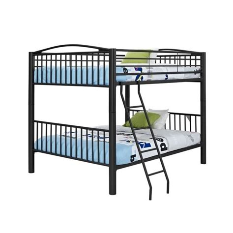 metal full over full bunk beds powell heavy metal full over full bunk bed in black 938 137