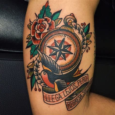 que es tattoo old school brujula old school