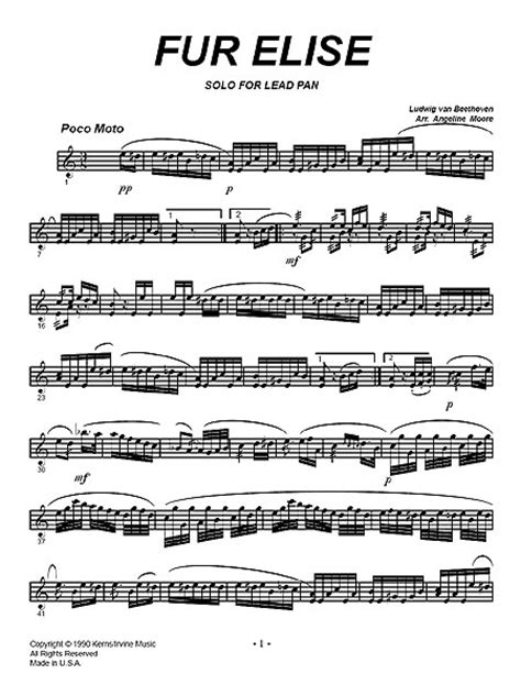beethoven biography fur elise sheet music quot fur elise quot by ludwig van beethoven solos