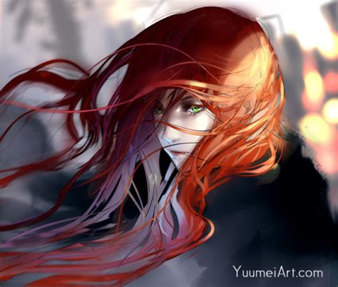 anime girl with red hair tumblr anime red hair girl tumblr