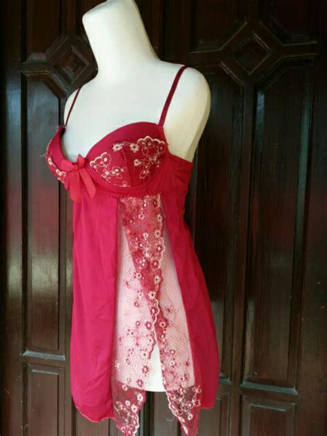 Harga Baju Lingering Jual Busa Tipis Al599 Merah Merah