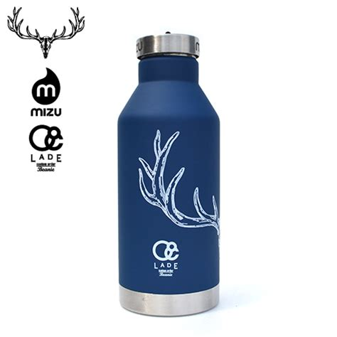 lade touch mizu lade original v6 insulated bottle soft touch blue