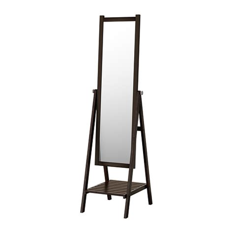 ikea mirror isfjorden floor mirror black brown stain ikea