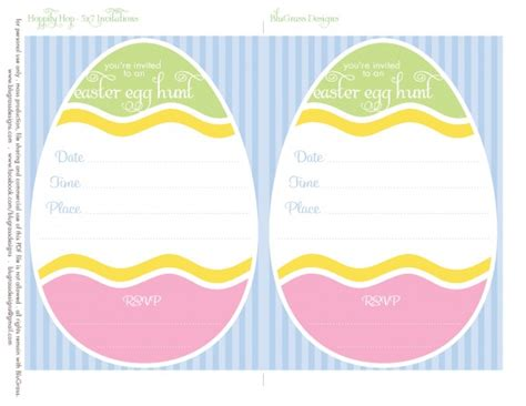 easter invitation templates free printable for your easter