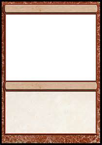 magic card template collectible card headquarters view topic need