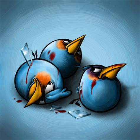 angry birds painting blue angry bird by scooterek on deviantart