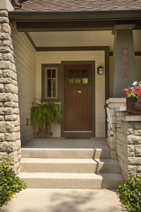 Exterior Porch Doors Craftsman Front Door Porch Traditional With Entrance Way