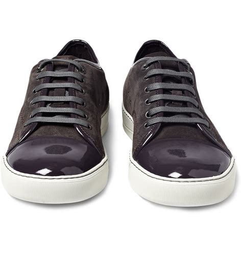 leather sneakers mens lanvin suede and patent leather sneakers sneaker cabinet