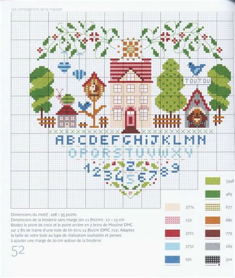 house pattern cross stitch heart house sler cross stitch pattern punto de cruz