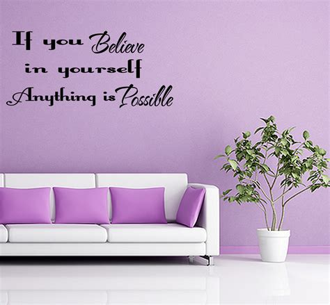 believe in yourself wall quote wall art decal vinyl