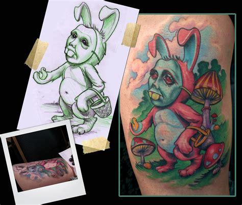 new school tattoo mn easter bunny tattoo by scotty munster tattoonow