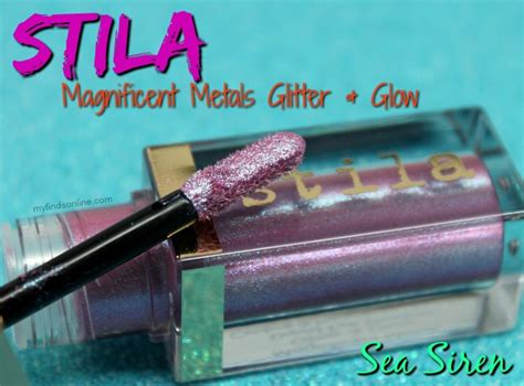 Stila Magnificent Metal Glitter Eyeshadow Duo Chrome Sea Siren stila sea siren magnificent metals glitter glow duo chrome liquid eye shadow myfindsonline