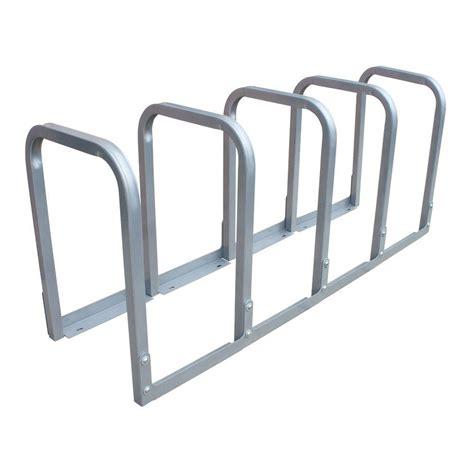 10 bike bike rack dero u lockit 10 bike 66 in galvanized bike rack u