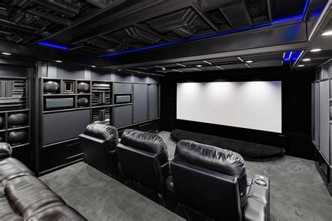 basement home theater black   boring acoustic frontiers