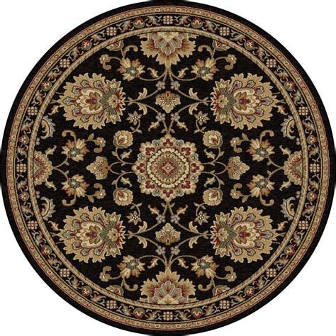 Area Rugs 3 X 5 Tayse Rugs Sensation Black 5 Ft 3 In X 5 Ft 3 In Traditional Area Rug 4853 Black 6