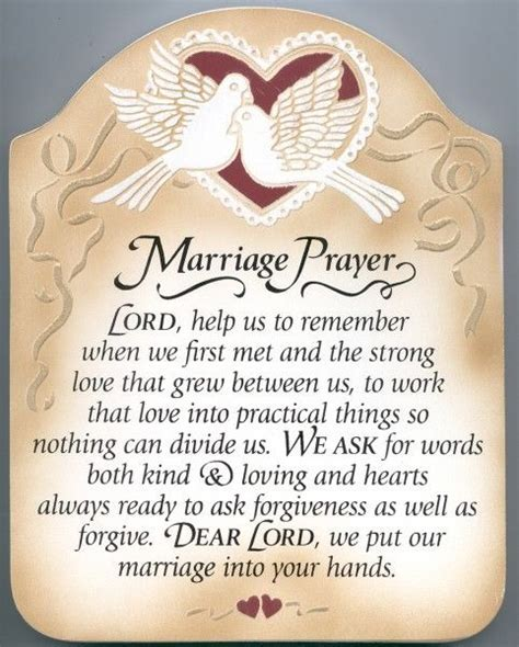Marriage Prayer Wall Plaque   Multi Color   Catholic