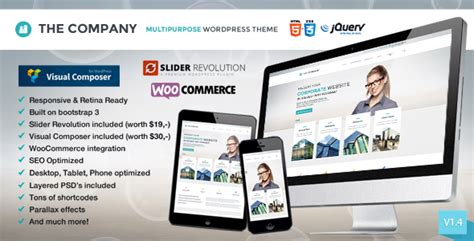 themeforest it company theme the company responsive multi purpose theme by redfactory